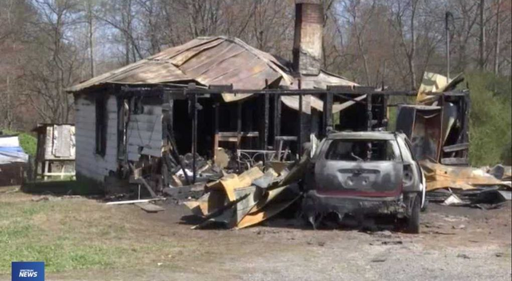 House Devastated by Fire Holy Bible Saved