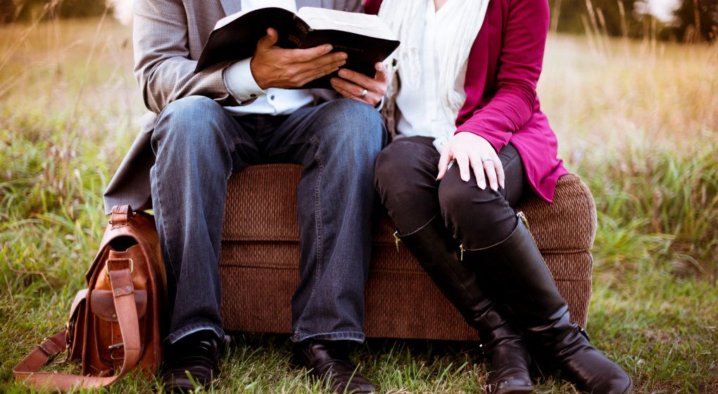 Image of a Couple Reading a Bible