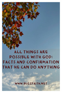 All Things Are Possible with God