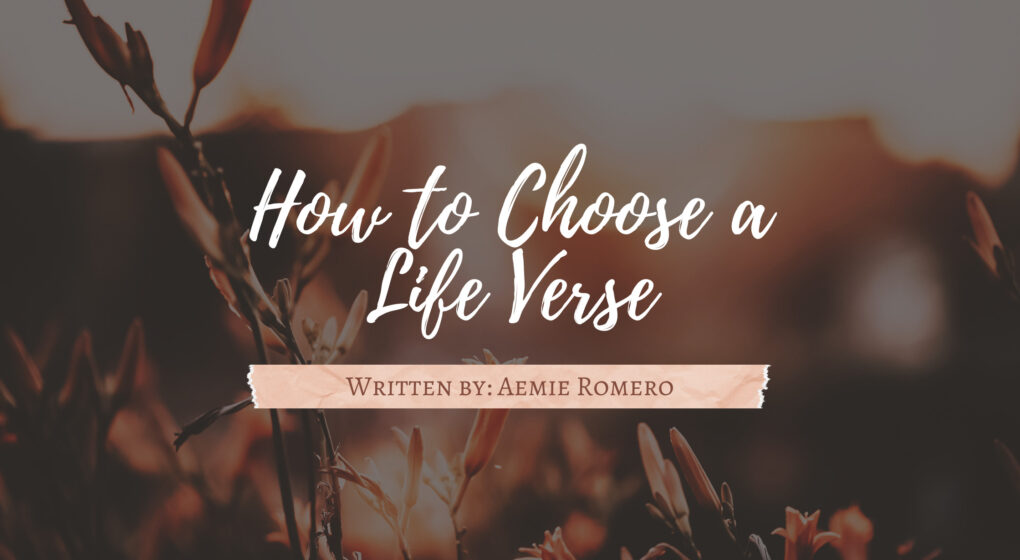 Faith in the Bible How to Choose Your Life Verse